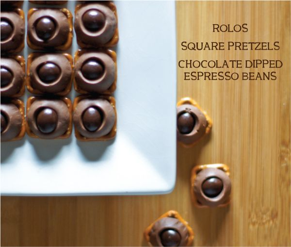 Rolo Pretzels with Espresso Beans from Today's Nest