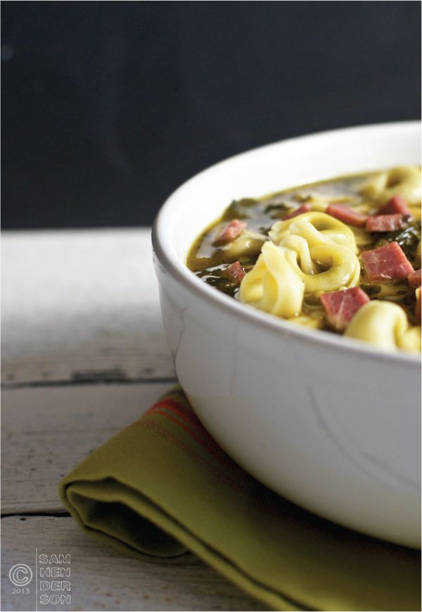 Beef & Spinach Tortellini Soup from Today's Nest